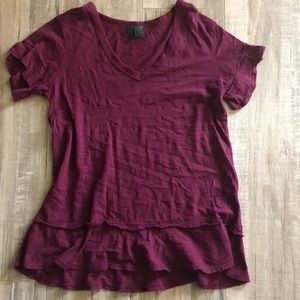 NEVER WORN v-neck shirt from anthropologie